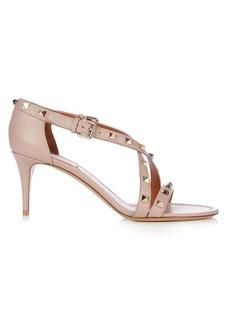 Valentino Rockstud cross-strap leather sandals
