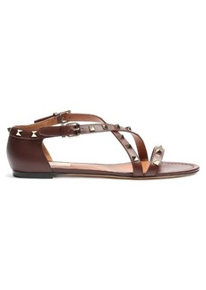 Valentino Rockstud cross-strap leather sandals