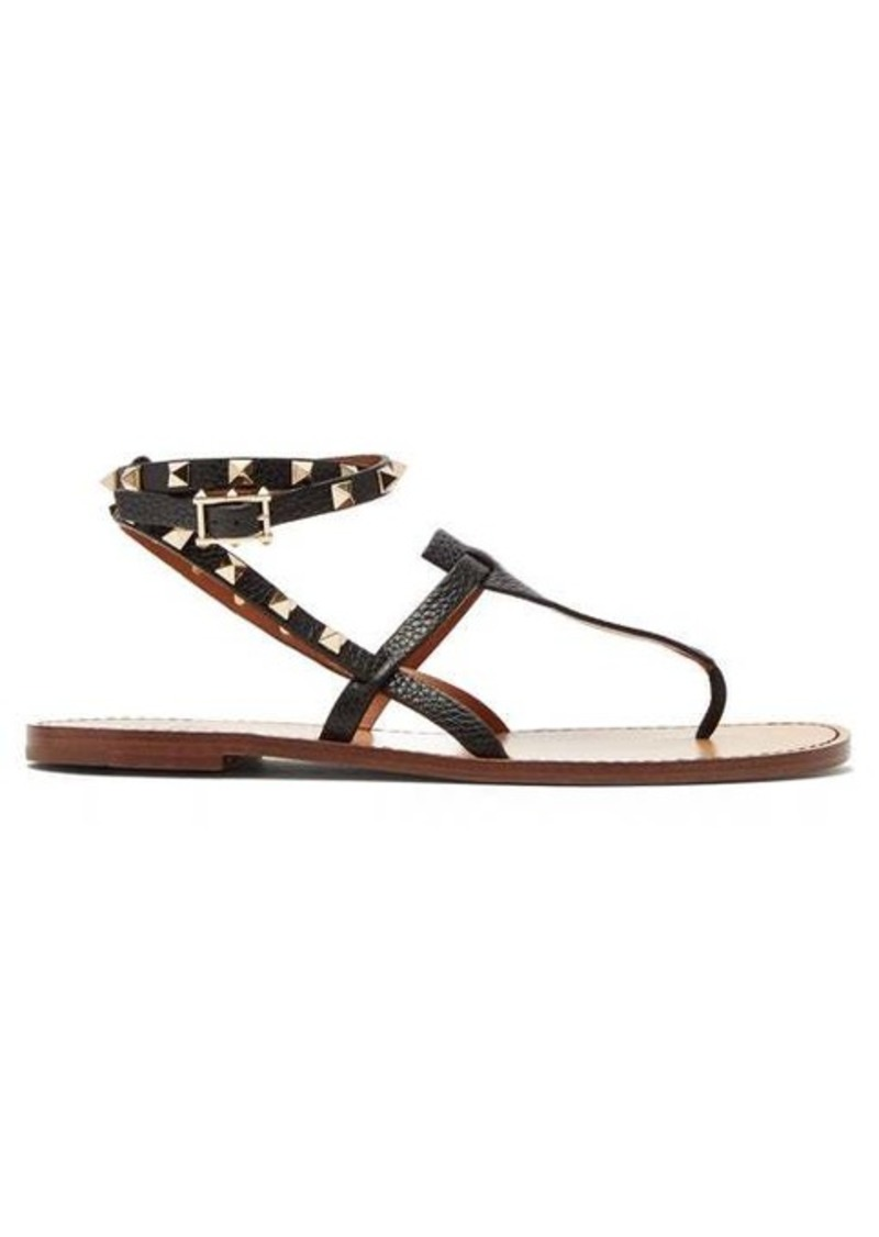 Valentino Rockstud double-strap leather sandals
