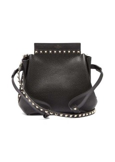 Valentino Rockstud drawstring leather cross-body bag
