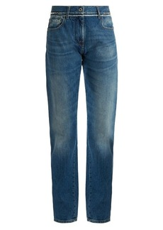 Valentino Rockstud-embellished boyfriend jeans