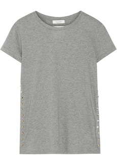 Valentino The Rockstud embellished cotton-jersey T-shirt