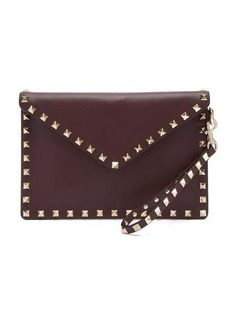 Valentino Rockstud-embellished leather pouch