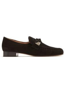 Valentino Rockstud-embellished suede loafers