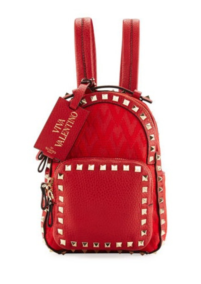 c6153122291a On Sale today! Valentino Valentino Rockstud Fabric Mini Backpack