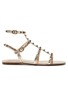 Valentino Rockstud flat leather sandals