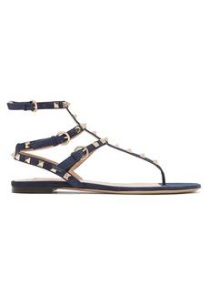 Valentino Rockstud flat suede sandals