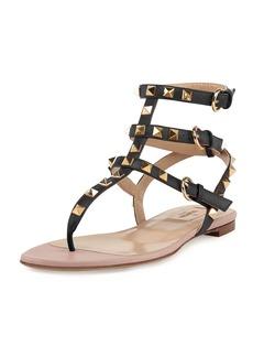 Valentino Garavani Rockstud Flat Thong Sandal