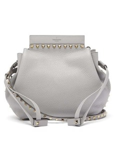 Valentino Rockstud grained-leather bucket bag
