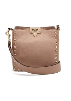 Valentino Rockstud grained-leather cross-body bag