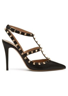 Valentino Rockstud grained-leather pumps