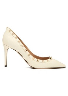 Valentino Rockstud grained-leather pumps