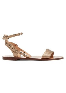 Valentino Rockstud grained-leather sandals