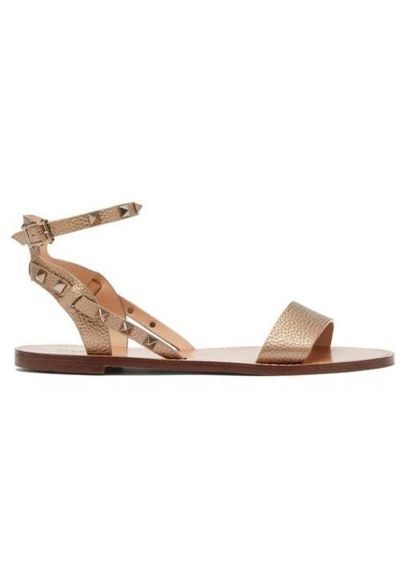 Valentino Rockstud grained-leather sandals