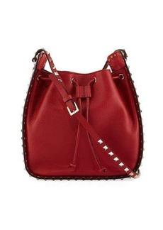 Valentino Rockstud Large Leather Bucket Bag