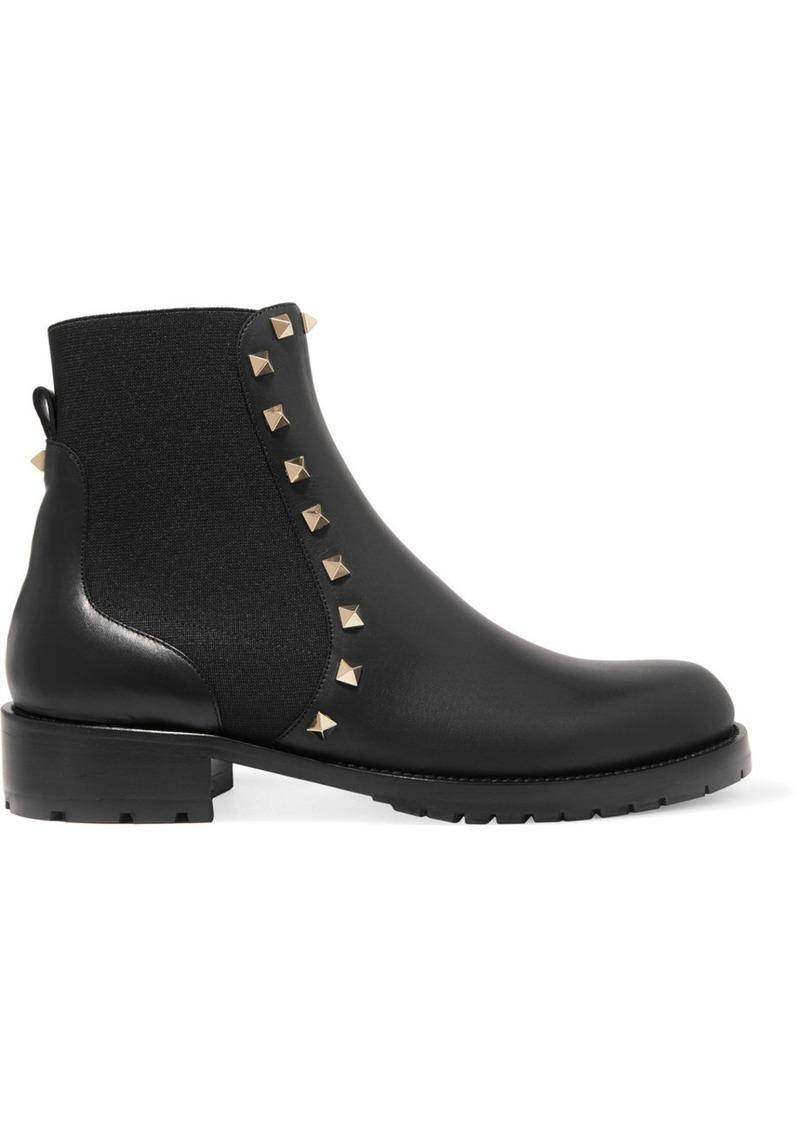 e8f1df8e43df Valentino Valentino Garavani The Rockstud Leather Chelsea Boots