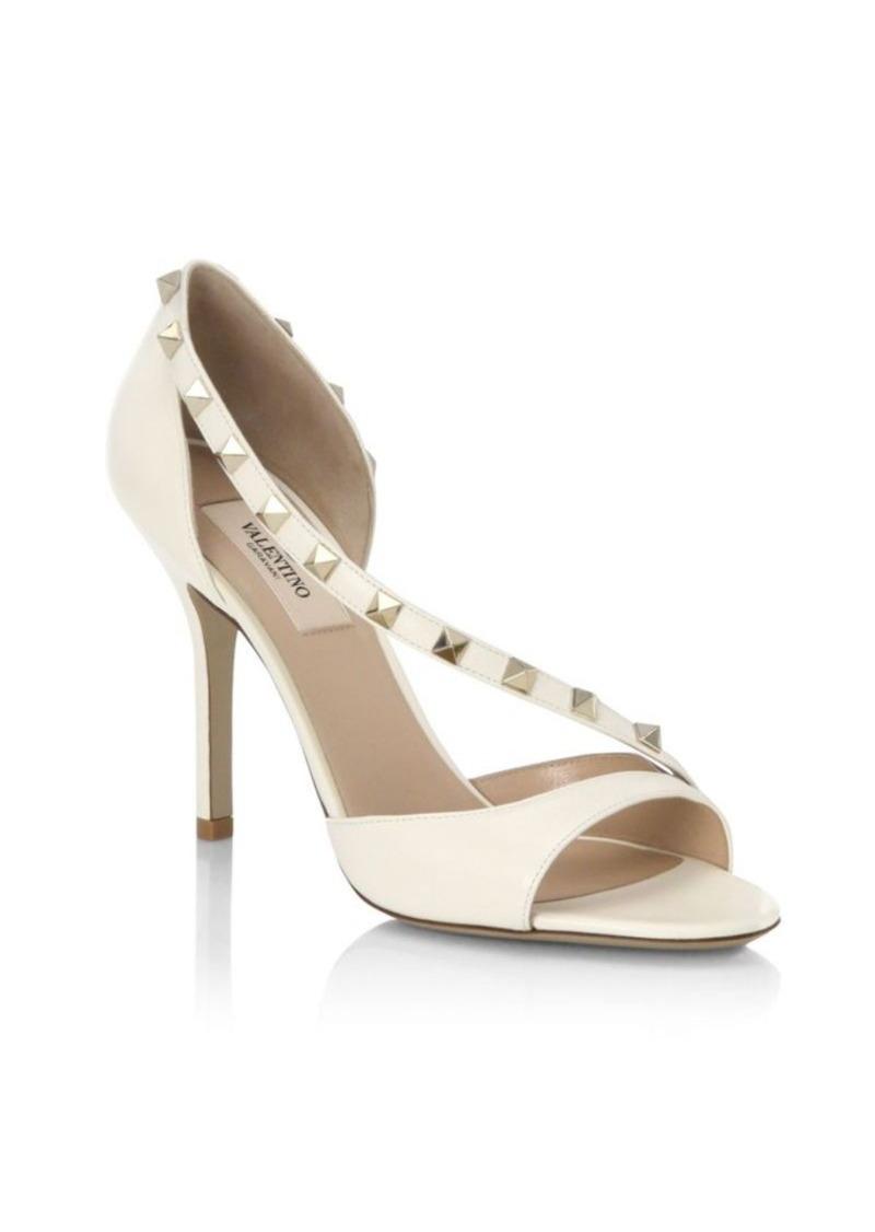 885ed5818f4 Valentino Valentino Rockstud Leather d Orsay Peep Toe Pumps