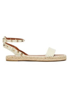 Valentino Rockstud leather espadrille sandals