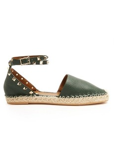 Valentino Rockstud leather espadrilles