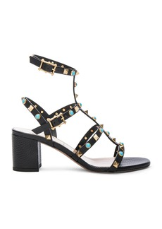 Valentino Rockstud Leather Rolling Gladiator Sandals