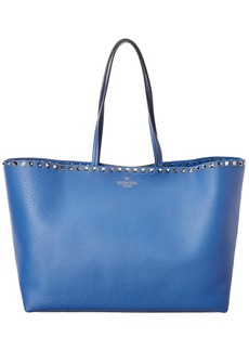 Valentino Rockstud Leather Shopper Tote