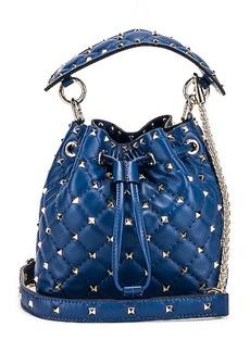 Valentino Rockstud Leather Spike Bucket Bag