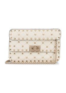 Valentino Rockstud Leather Spike Chain Shoulder Bag