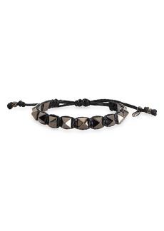 Valentino Garavani Rockstud Macramé Bracelet