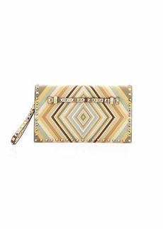 Valentino Rockstud Medium Wristlet Clutch Bag