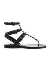 Valentino Rockstud Noir Gladiator Leather Sandals T.05