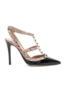 Valentino Rockstud Patent Leather Ankle Strap Heels