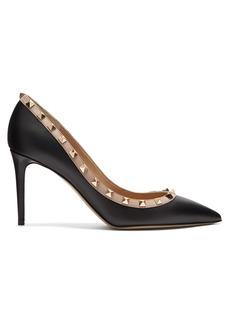 Valentino Rockstud point-toe leather pumps