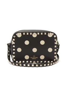 Valentino Rockstud polka-dot leather camera bag