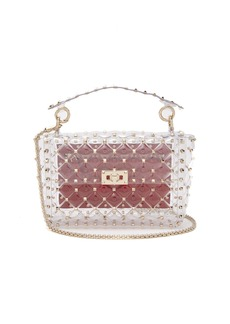 Valentino Rockstud quilted-PVC shoulder bag