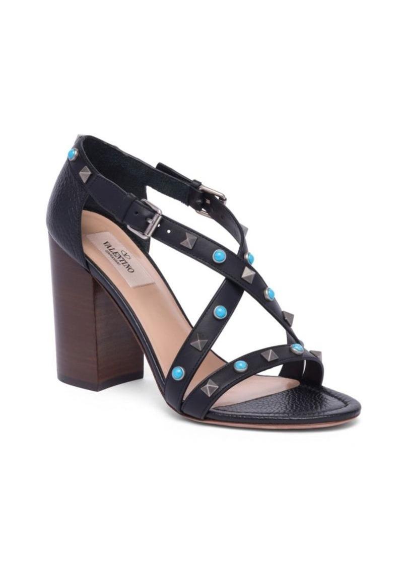 b886c03a3 Valentino VALENTINO GARAVANI Rockstud Rolling Leather Block Heel ...