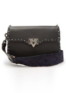 Valentino Rockstud Rolling leather shoulder bag