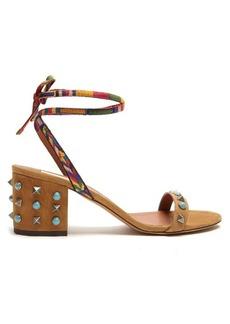 Valentino Rockstud Rolling suede sandals