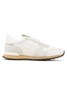 Valentino Rockstud Runner camouflage-print leather trainers