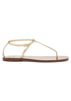 Valentino Rockstud slim strap leather sandals