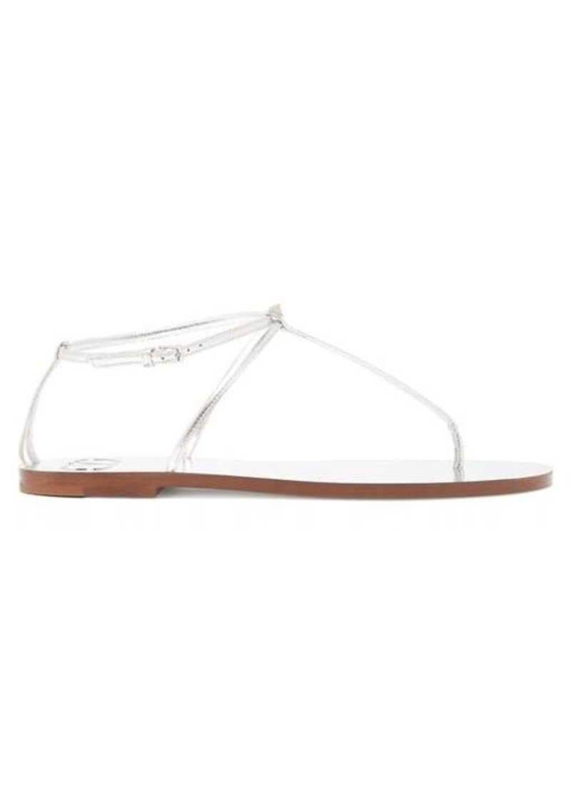 Valentino Rockstud slim strap leather sandals