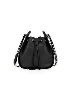 Valentino Garavani Rockstud Small Leather Drawstring Bucket Bag