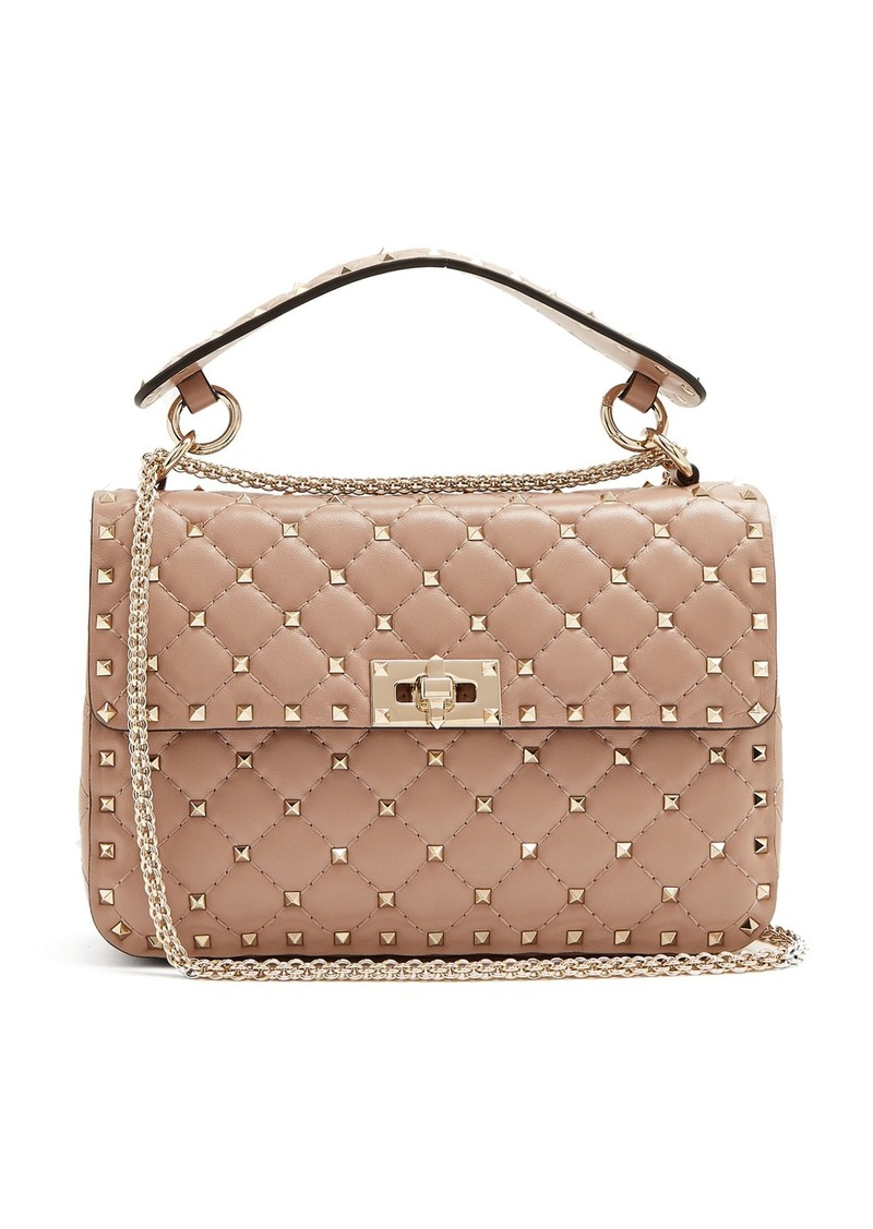 eb8b17fb22d Valentino Valentino Rockstud Spike medium quilted-leather shoulder ...