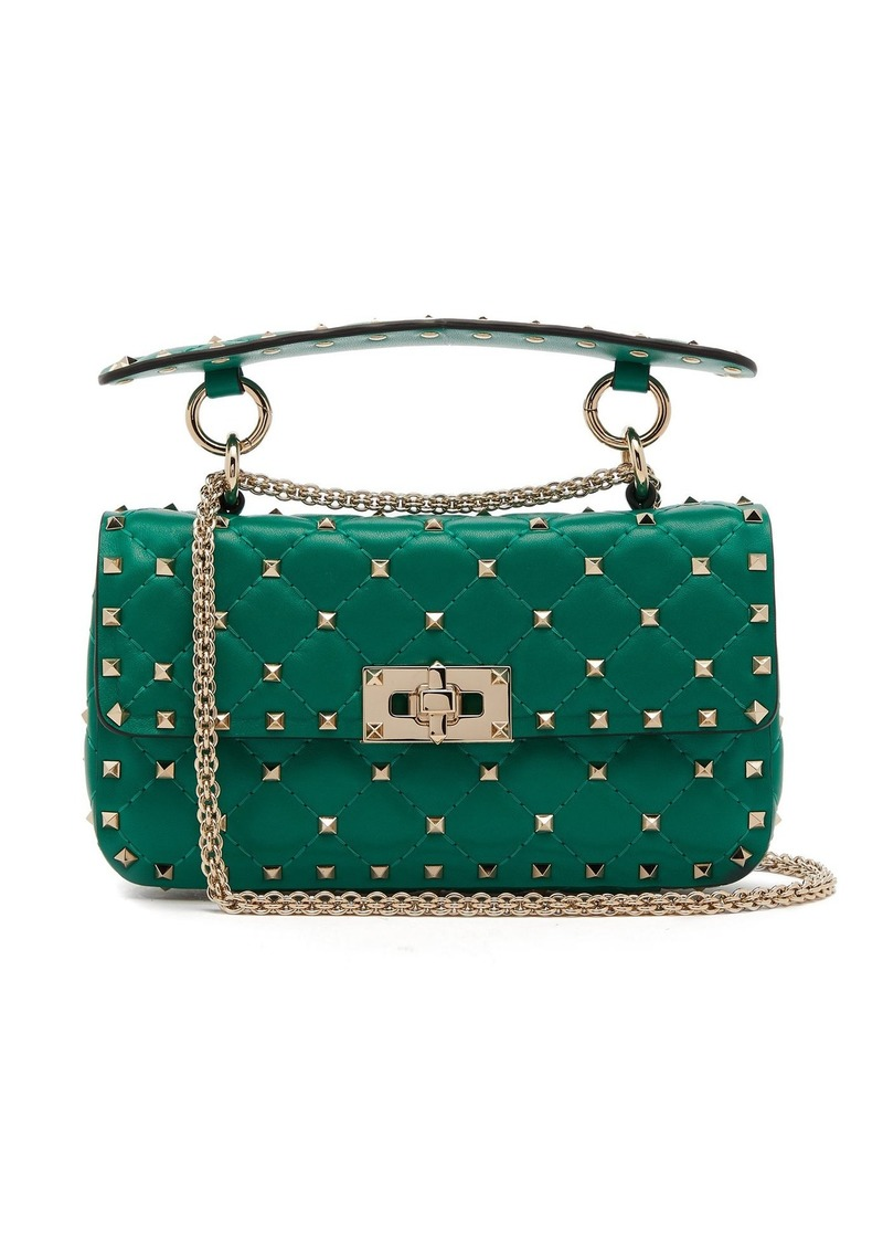 0186ea4845 Valentino Valentino Rockstud Spike small quilted-leather shoulder ...