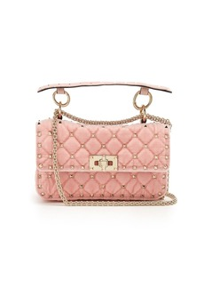Valentino Rockstud Spike small quilted-velvet shoulder bag