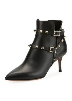Valentino Rockstud Split Leather Bootie