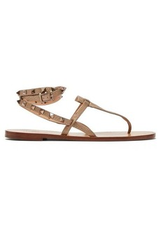 Valentino Rockstud tie-ankle leather sandals