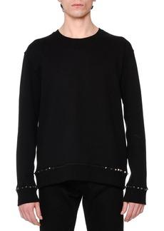 Valentino Rockstud-Trim Crewneck Sweatshirt