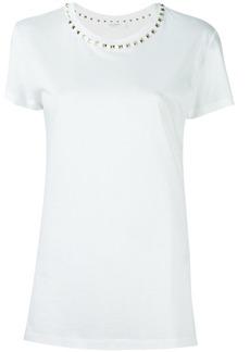 Valentino Rockstud trimmed white t-shirt