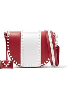 Valentino Garavani The Rockstud two-tone leather shoulder bag