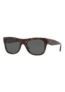 Valentino Rockstud Two-Tone Square Sunglasses